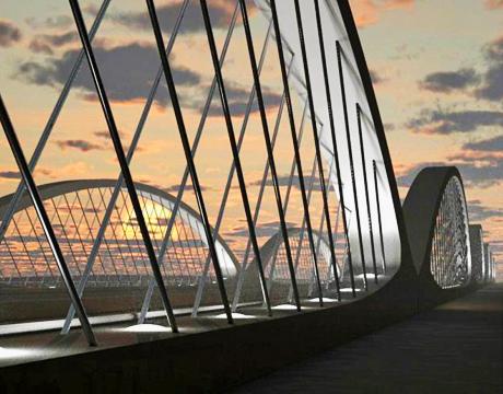 Worlds First Precast Network Arch Bridge