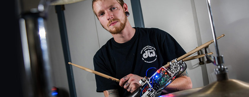 A Prosthetic Arm Bangs the Drums
