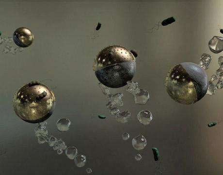Swimming Microbots Kill Waterborne Pathogens