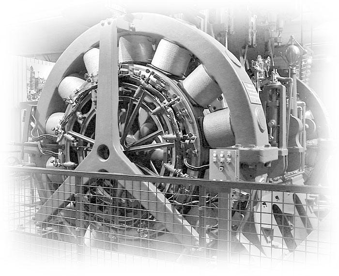 Marine-type Triple-expansion, Engine-driven Dynamo Photo