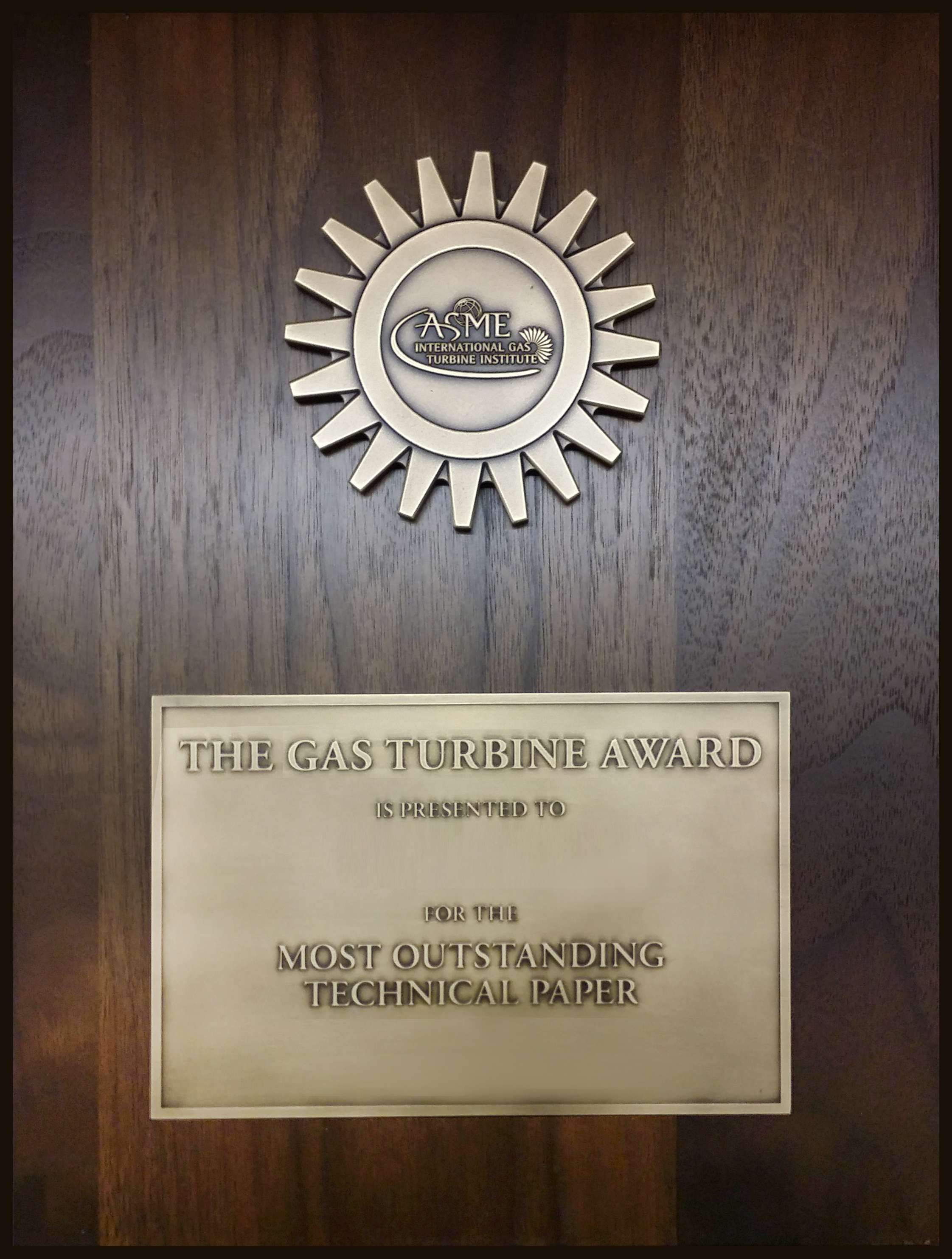 Gas Turbine Award Engineering Literature Awards