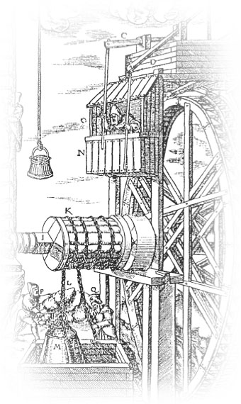 118 Samson Mine Reversible Waterwheel & Man Engin