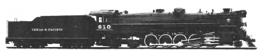 Texas & Pacific #610 Lima Superpower Steam Locomotive