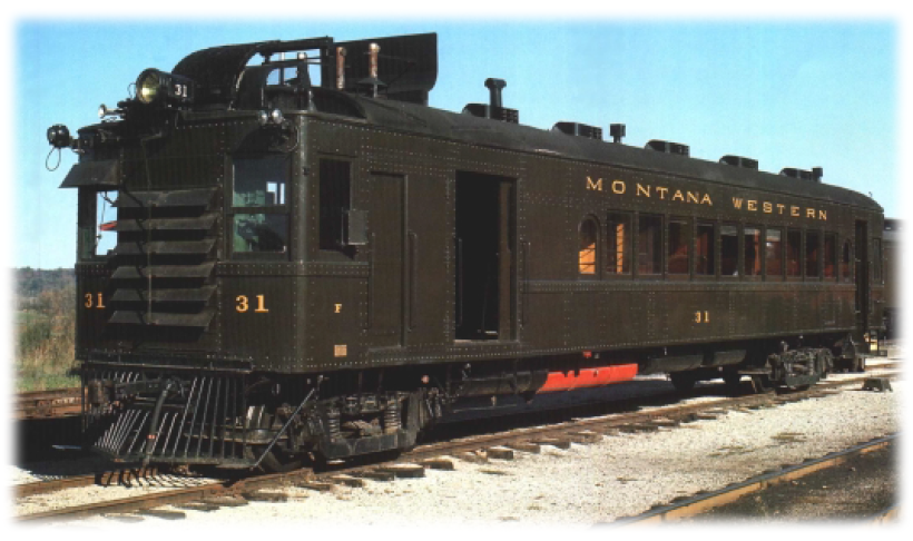 Great Northern 2313 Montana Western 31 Gas-Electric Rail Motorcar