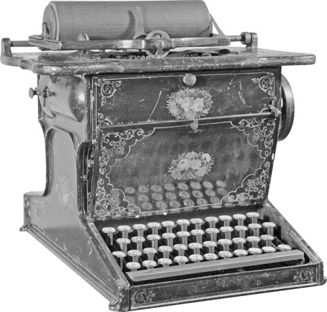 The Sholes & Glidden Type Writer <em>(courtesy of the Milwaukee Public Museum)</em>