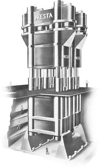 ALCOA 50,000-ton Hydraulic Forging Press