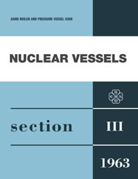 The cover of the first ASME Code on Nuclear Vessels