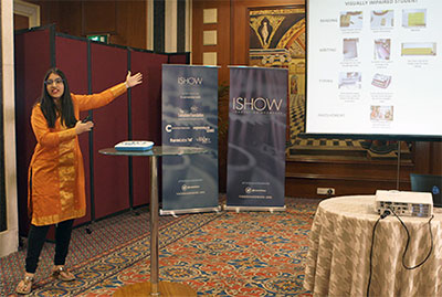 Sanskriti Dawle of Team Annie describes her team's entry during her presentation at the ASME ISHOW in India