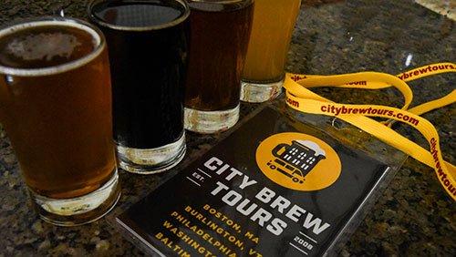 city brew beer glasses