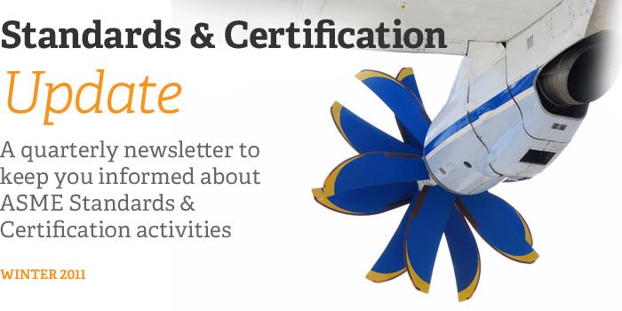 Standards & Certification Update