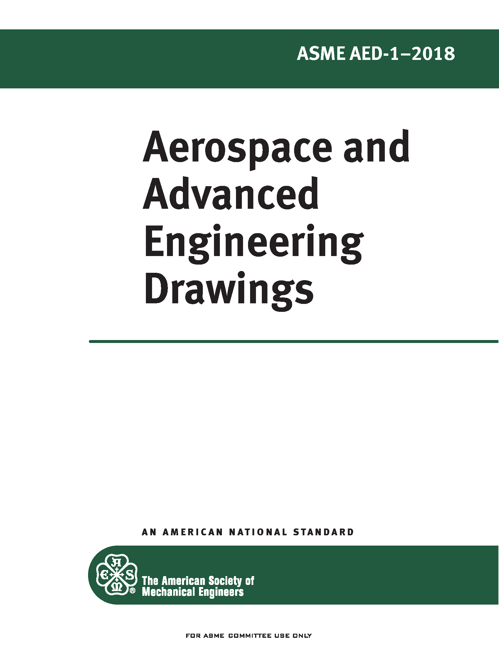 ASME AED-1 2018 Aerospace and Advanced Engineering Drawings Standard